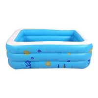 HYCJJL Inflatable Pool Rectangular Kiddie Swimming Pool Kid Pools Water Toys for Outdoor Beach