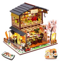 Spilay DIY Dollhouse Miniature with Wooden FurnitureHandmade Japanese Style Home Craft Model Mini Kit