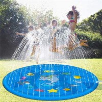 AIZYR Inflatable Splash Sprinkler Pad for Kids 68 Outdoor Water Mat Toys - Wading