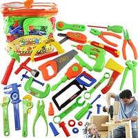 N A 34PCS Set Garden Tool Toys Pretend Play Repair Tools Environmental Plastic Engineering Maintece for Children 8367