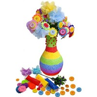 Arts and Crafts Toy DIY Kit Party Favors Flower Craft Kit for Kids Make Your Own Flower Bouquet Popular Toy Gift