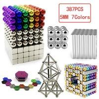 N-A Magnetic Building Blocks 387 Pieces Sticks Set Magnet Stem Toys 3D Puzzle Boys for Teens