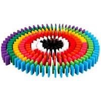 Domino 240 pieces Set Authentique Tilleul standard en bois rallye building kits
