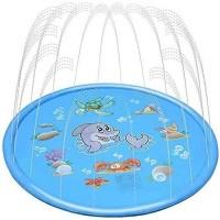 Hao-zhuokun Splash Pad100cm/150cm/170cm Splash Paddling Pool Play Mat Nflatable Water Toys Outdoor Swimming Pool