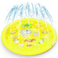 3-in-1 Sprinkler for Kids Splash Pad and Wading Pool for Learning  Childrens Sprinkler