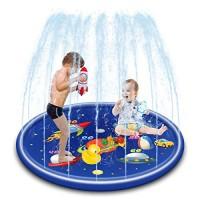 Sprinkler for Kids Splash Pad 68 Inches Outdoor Inflatable Sprinkler Water Toys  Space