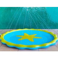 CFmoshu Splash Pad for Kids Sprinkler and Splash Play Mat for Learning 67 Outdoor
