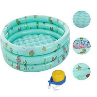 UEncounter 51x16 inch Round Inflatable Swimming Pool Outdoor Portable Water Play Baby Inflatable Pools