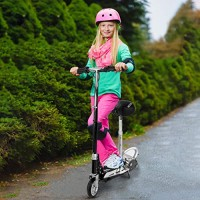 2 in 1 Toddler Scooter with Removable Seat Scooters for kids/Adult Easy-Folding Scooter with