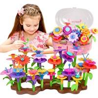 Fomass Toys for 3-6 Year Old Girls Flower Garden Building Toy STEM Pretend Playset