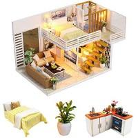 N-A DIY Miniature Dollhouse Kits Wooden Mini Doll House 1:24 Scale Creative Furniture Toys