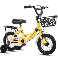 Children's Bicycle 12/14/16/18/20 Inch Children's Bicycles Boys and Girls Bicycles (Color : Yeiiow)