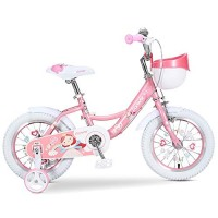 BAOMEI Kids Bike 12/14/16/18 Inch Kids Bike with Training Wheels for 2-13Years Old Girls