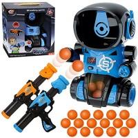 KoudHug Robot Shooting Toys for Kids Target Shooting Games with 2 Air Pump Gun