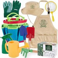 Kids Gardening Tools 10 Piece - Premium Garden / Backyard Tool Set with Gloves