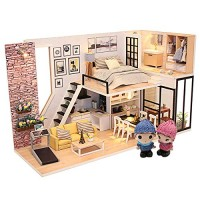 ARELUX DIY Dollhouse Kit with Furniture1:24 Scale Mini Creative RoomPerfect Valentines GiftBirthday Gift (Warm