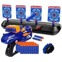KOVEBBLE Digital Shooting Targets with Foam Dart Toy Shooting Blaster  4 Targets Auto