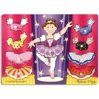 Ballerina Dress-Up Mix n Match Peg Puzzle