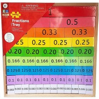 Fractions Tray 51 pc Wooden Blocks Set