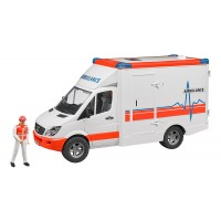 Bruder MB Sprinter Ambulance with Driver Vehicle Set