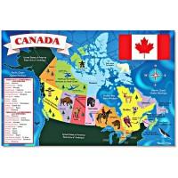 Canada Map Floor Puzzle