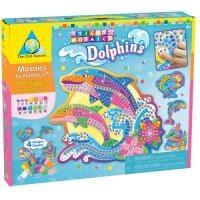 Dolphins Sticky Mosaics Girls Craft Kit