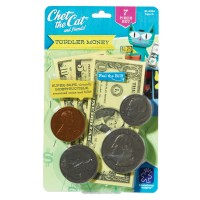 Toddler Pretend Money - Chet the Cat 7 pcs Playset