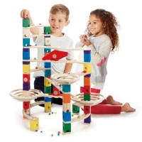 The Challenger Quadrilla 147 pc Wooden Marble Run
