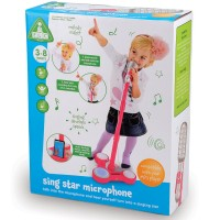 Sing Star Pink Toy Microphone with Stand