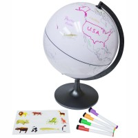 Color My World 11 Inches Globe with Stickers