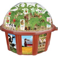 Farmers Garden Dome Veggie Growing Plant Kit