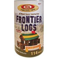 Frontier Logs 114 pc Wooden Classic Construction Set