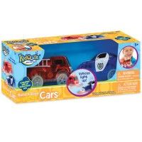 Build a Road Light-Up Cars 2 Emergency Vehicles Set
