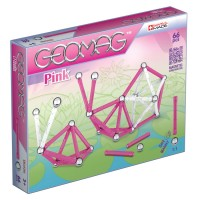 Geomag Pink Colors 66 pc Magnetic Building Set for Girls