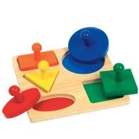 Geo Shapes Knob Puzzle Board