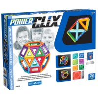 Power Clix 3D Magnetic 74 pc Building Kit