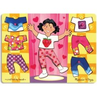 Girl Dress-Up Mix n Match Peg Puzzle