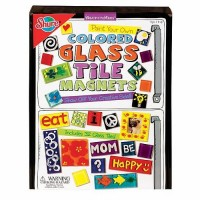 Colored Glass Tile Magnets Craft Set & Book