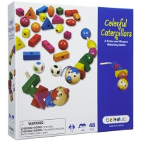Colorful Caterpillars Shapes Matching Game