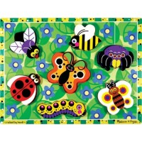 Insects Chunky Puzzle - Bugs Wooden Puzzle
