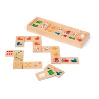 Barnyard Dominoes Toddler Farm Wooden Domino Game
