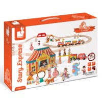 Story Express Circus Wooden Train Set