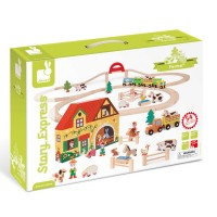 Story Express Farm Wooden Train Set