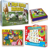 Farm Animals Preschool Developmental Activity Toy Kit for 3-4 Years
