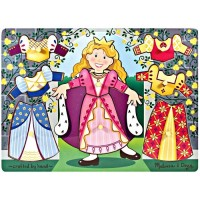 Princess Dress-Up Mix n Match Peg Puzzle