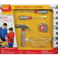 Kids 5 pc Real Tools Toolset
