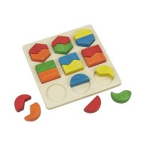 Shape Sorting Wooden Board