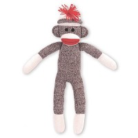 Sock Monkey Stuffed Toy