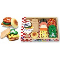 Sandwich Making Set Wooden Play Food Set