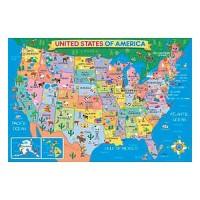 US Map 24 pc Giant Floor Puzzle